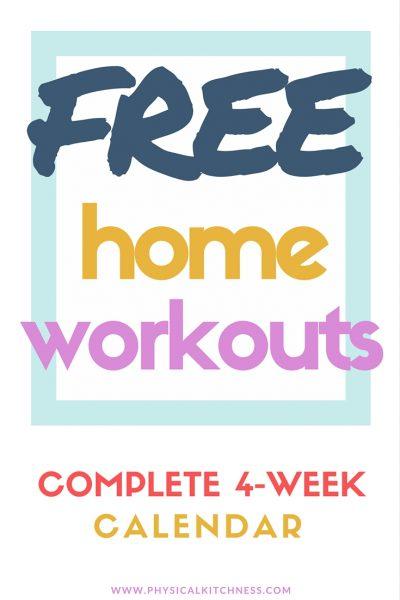 Free 4-Week Home Workout Calendar