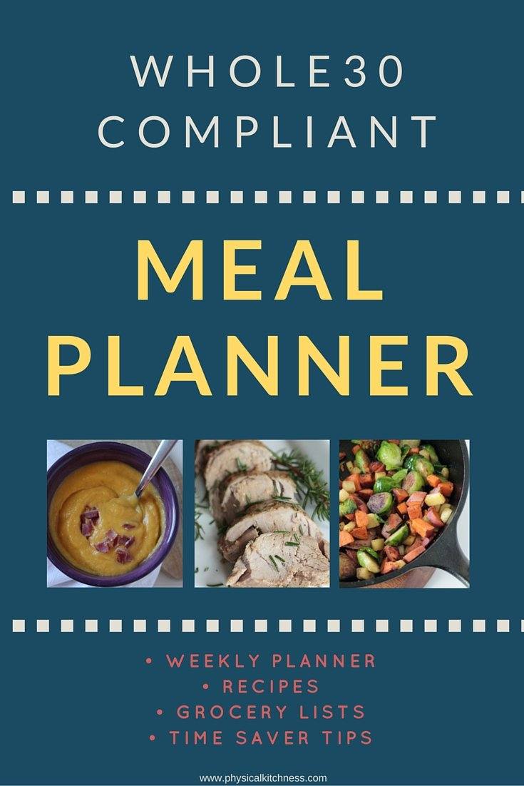 FREE Whole30 Meal Planner. 30 days of recipes, grocery lists, planning guide, and time saving tips! This amazing resources even uses leftovers to recreate the following day's lunches and dinners. Your go-to resource to save time and money for The Whole30 Challenge!
