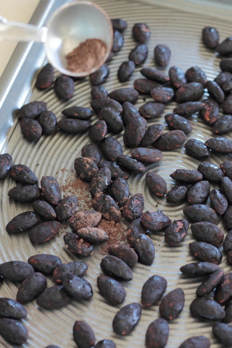 Death by chocolate! These Mexican hot chocolate almonds are out of this world!