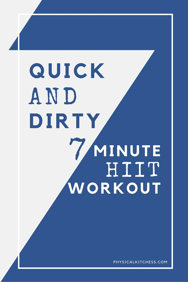 7 minute HIIT workout will achieve maximum results! These 30 second intervals will kick your butt in no time.