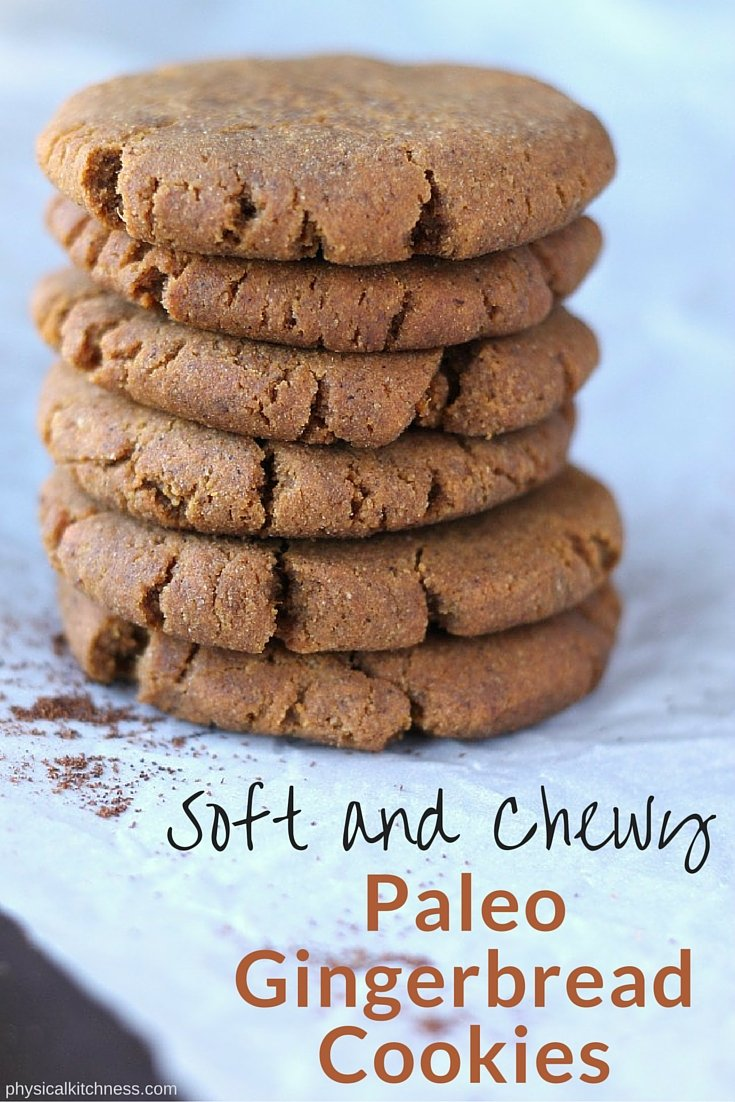 These paleo and vegan Christmas cookies are made with two secret ingredients to make them the chewiest, softest 100-calorie gingerbread cookies ever! Sweet potato & tahini.