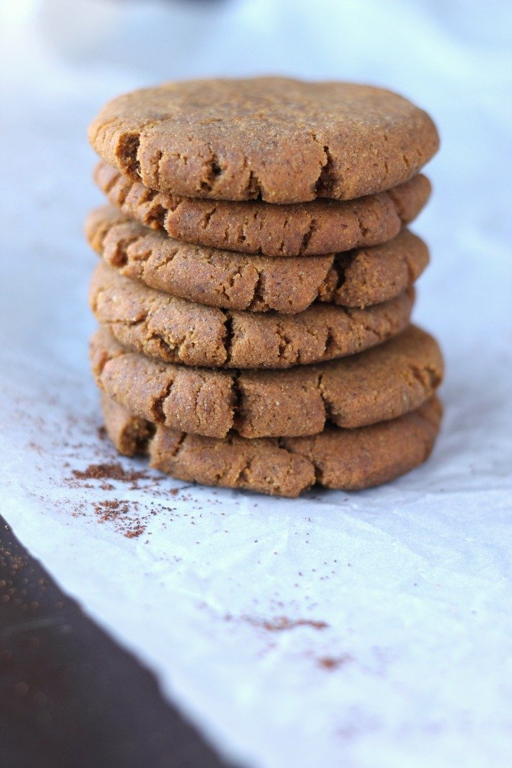 Soft Chewy Paleo Gingerbread Cookies