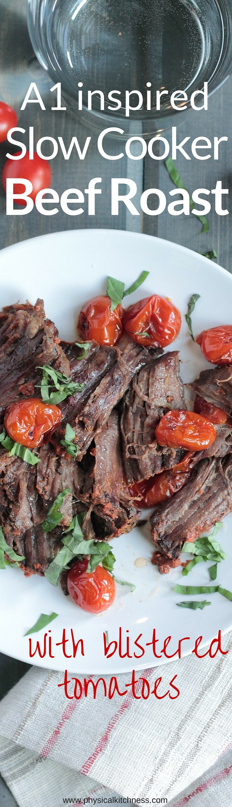 THIS slow cooker beef pot roast is PACKED full of flavor. It's paleo and Whole30 complaint too. If you love A1 sauce, you will love how easy it is to replicate and incorporate into a high protein meal the family will love!