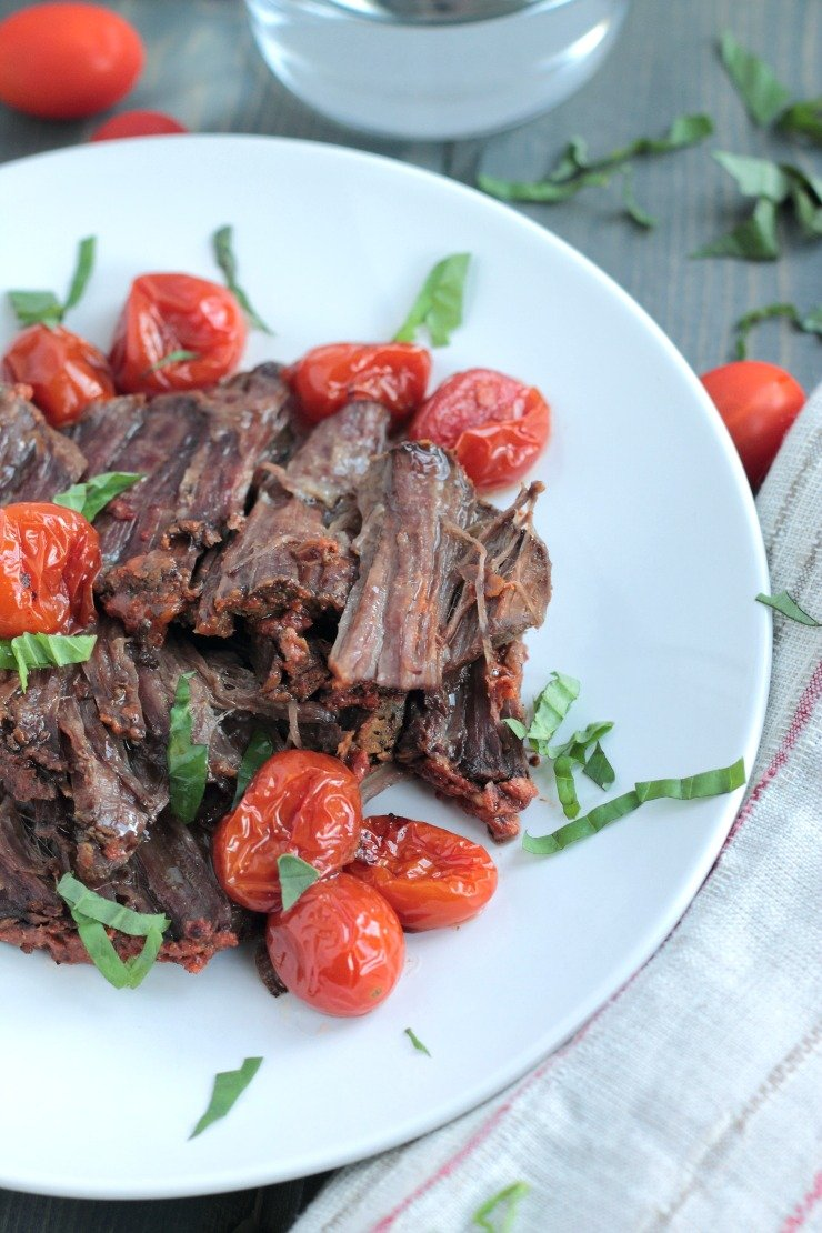 This A1 Inspired Beef Pot Roast is the easiest and tastiest slow cooker meal you'll ever make. Made with all-natural ingredients, it's paleo and Whole30 compliant!