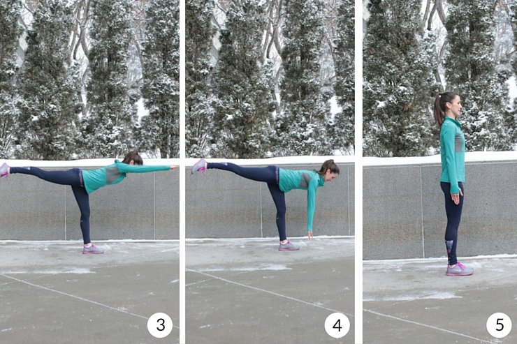 Balance and agility workout - complete this strength and coordination workout with one-legged swan dives