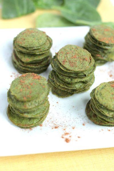Cinnamon Spinach Mini Flapjacks