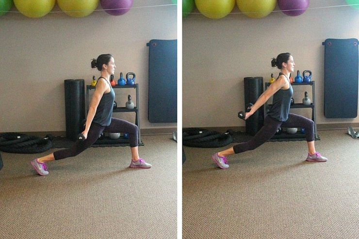 Simple, targeted moves with light to medium hand weights can make a big difference! Try this shoulder, tri's, butt and thighs workout today.