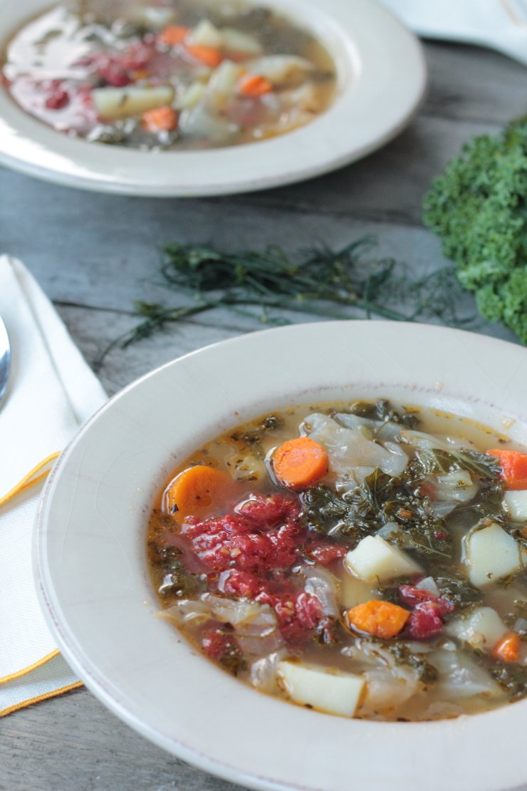 Hands down the BEST vegetable stew you will ever taste. The easy, homemade broth is what makes this hearty soup a Midwestern favorite!