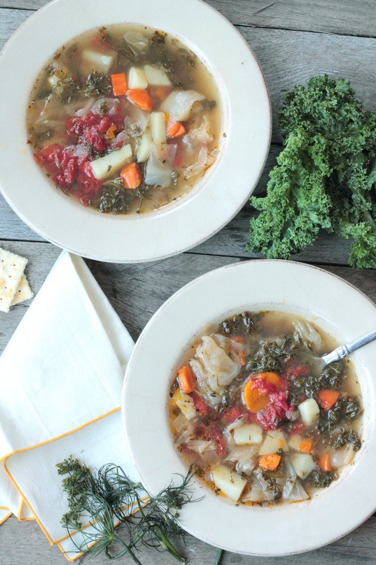 The broth of this soup will blow your mind! A hearty vegetable soup that has a few unconventional ingredients that makes this the best stew you've ever had. Paleo and Whole30 complaint!