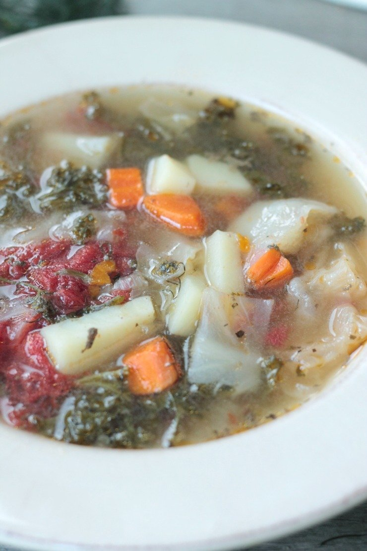 Pickling spices and beef bones make this hearty vegetable stew the most amazing, flavor-packed comfort soup you'll ever taste