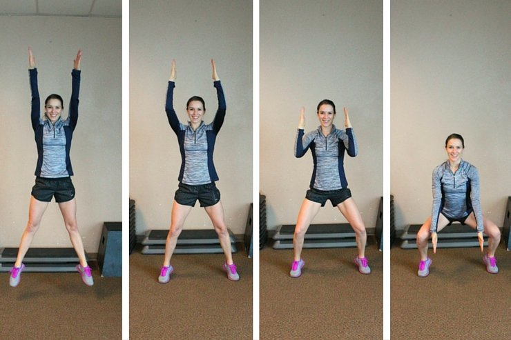 Finish this legs of a track star workout with these squat jumps with a slow and controlled landing to sculpt every muscle of your lower half!