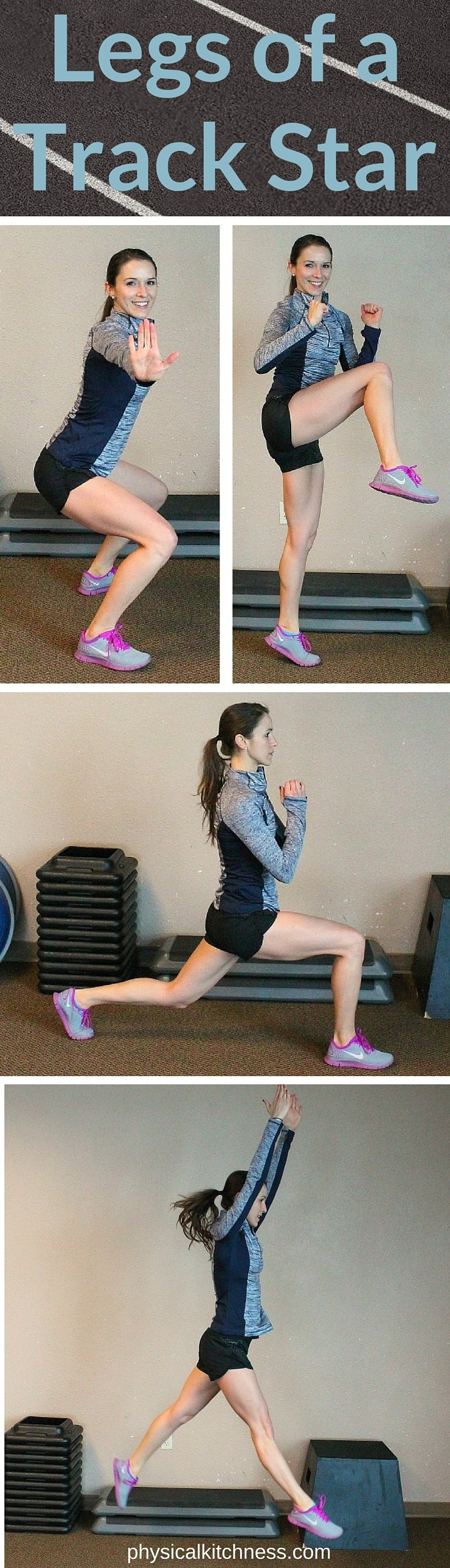 Want toned, sculpted, strong legs? Try this Legs of a Track Star workout for the best way to get the legs of your dreams! Plyometrics, squats, and lunges are the key!