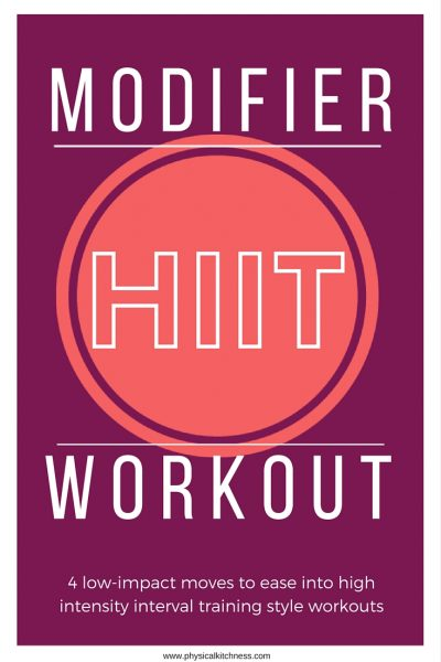 Modifier HIIT Workout