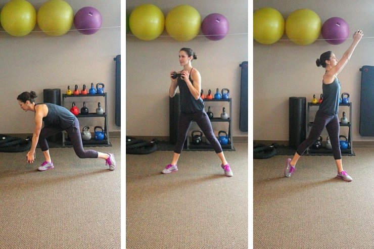 Shoulders, Triceps, Butt, and Thighs all target in this total body workout!