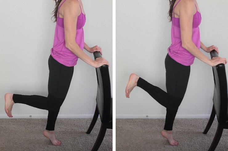 Booty Barre Home Workout - Heel Kicks