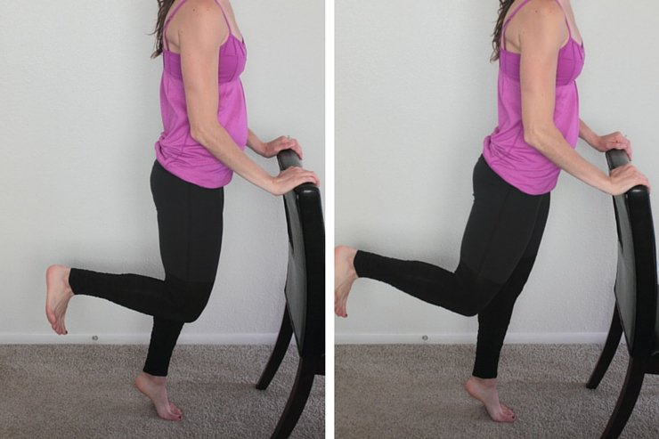 Barre Booty Home Workout - Heel Pushes