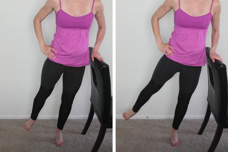 Barre Booty Home Workout - Side Lifts