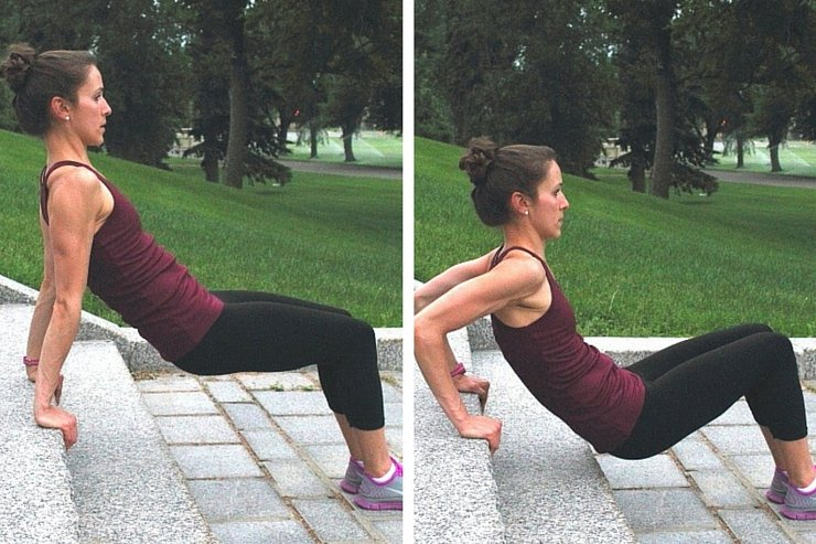 Insanity Inspired Workout - Tricep Dips