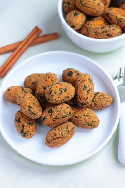 Spinach Sweet Potato Tots
