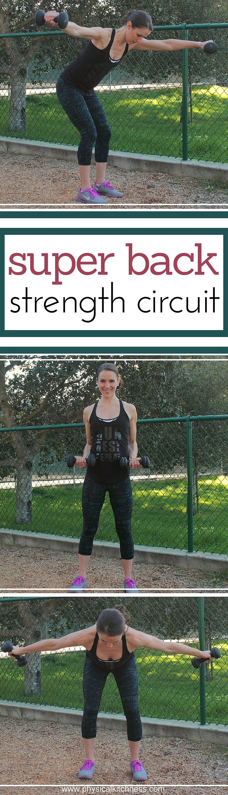 STRENGTHEN your back while sculpting your shoulders, upper back, and lower back with this super back strength circuit. An easy-to-follow, workout you can do anywhere! 4 exercises, endless possibilities!