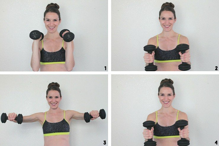 Hammer curls to reverse fly for buff lady arms!
