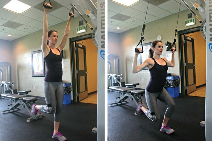 Cable Machine Total-Body Circuit-One Leg Squat Overhead Pulls