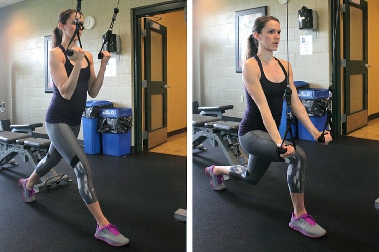 Cabine Machine Total-Body Circuit - Lunge Biceps