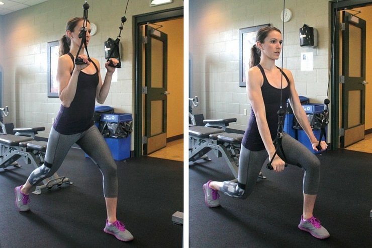 Cable Machine Total-Body Circuit - Lunge Triceps