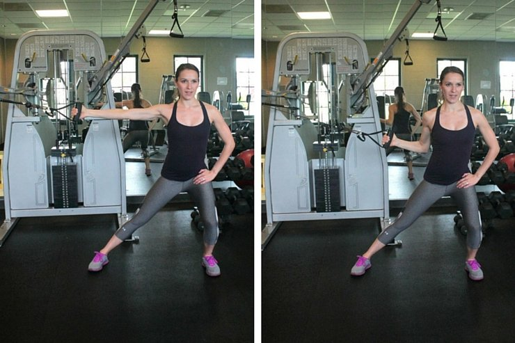 Cable Machine Total-Body Circuit-Side Lunge Pulls