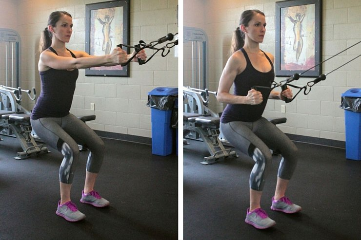 Cable Machine Total-Body Circuit-Squat Rows