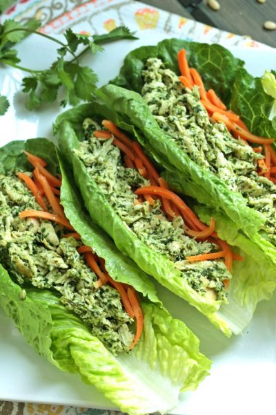 Cilantro Pesto Chicken Wraps