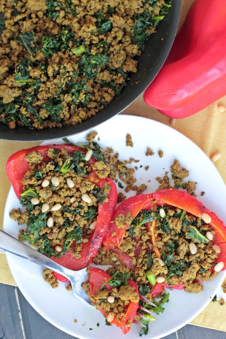 It may not be pretty, but it is INCREDIBLY tasty. This ground beef is packed with flavor and piled over roasted red peppers makes this a Physical Kitchness favorite. Plus it's low-carb and whole30 compliant! An amazing 20-minute dinner.