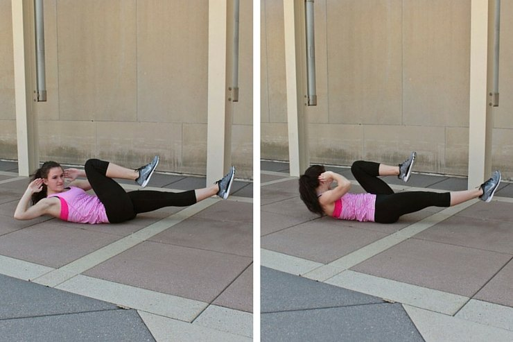 Summer Bikini Workout Series: Part 4 - Abs & Upper Body. Bicycle crunches