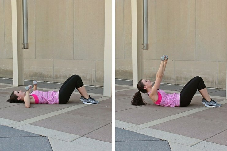 Summer Bikini Workout Series: Part 4 - Abs & Upper Body, Shoulder press crunch