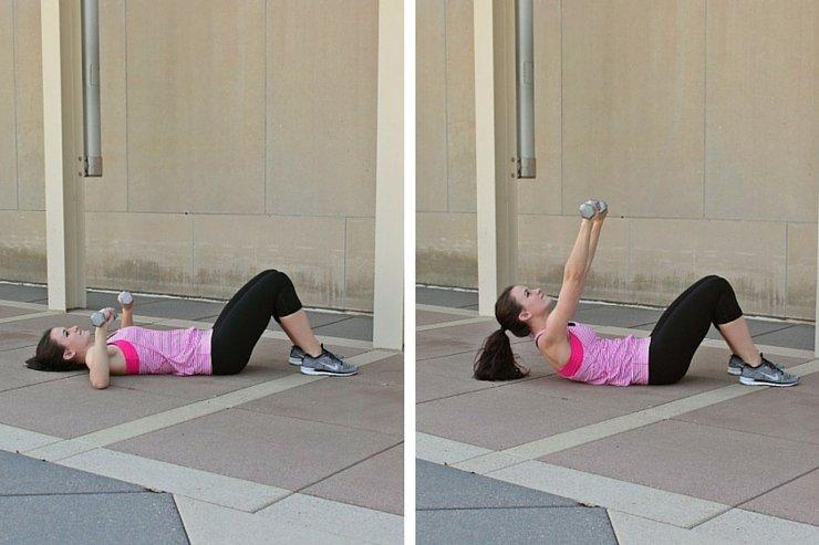 Summer Bikini Workout Series: Part 4 - Abs & Upper Body, Shoulder press crunch