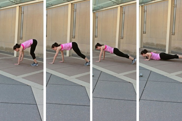 Summer Bikini Workout Series: Part 4 - Abs & Upper Body. Plank walk pushups