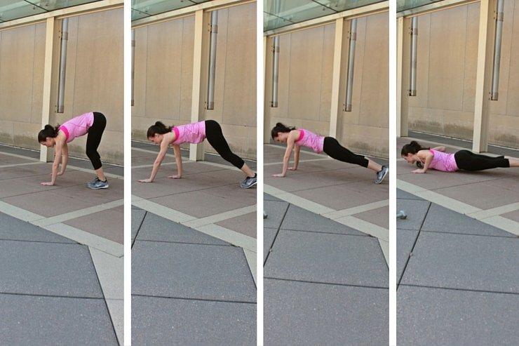 Summer Bikini Workout Series: Part 4 - Abs & Upper Body. Plank walk pushups