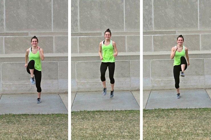 Summer Bikini Workout Series Part 2 - Cardio Blast. High knees