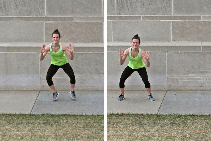 Summer Bikini Workout Series Part 2 - Cardio Blast. Side shuffle