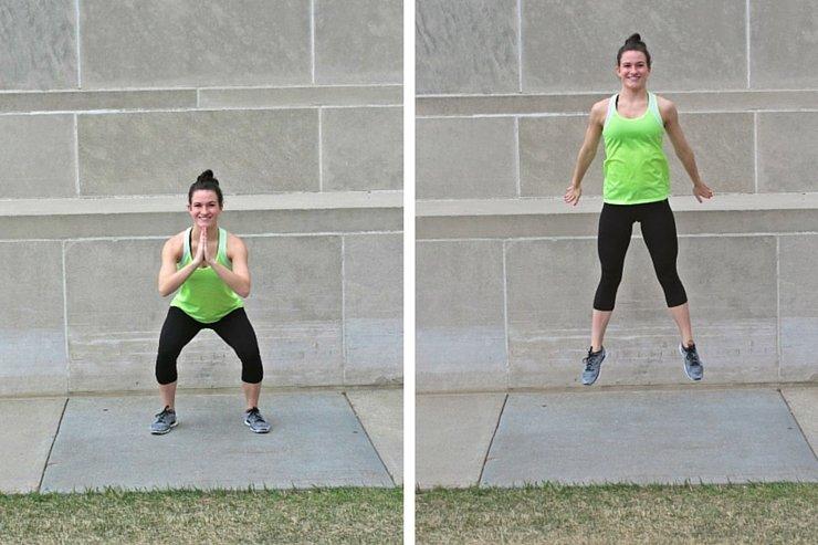 Summer Bikini Workout Series Part 2 - Cardio Blast. Squat hops