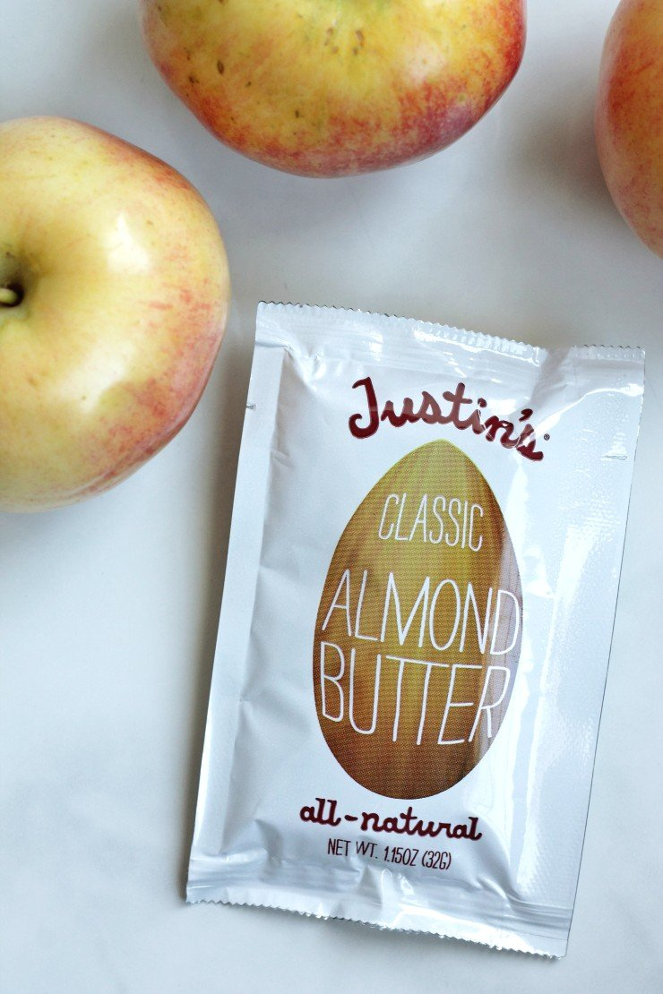 Almond butter packets make a simple and easy road trip snack that satisfies and doesn't sabotage healthy eating habits!