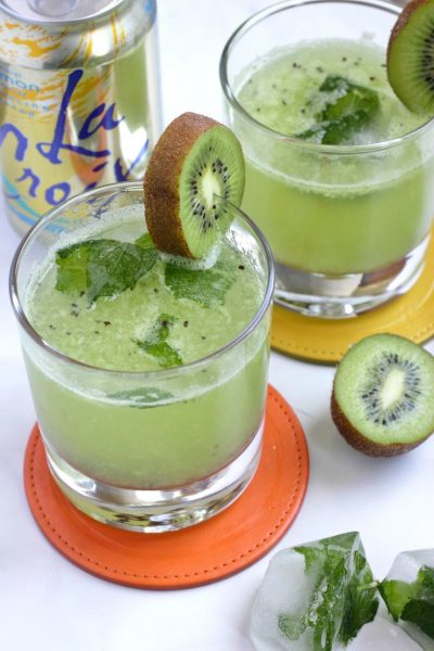 Lemon Pineapple Kiwi Sparkling Mocktail