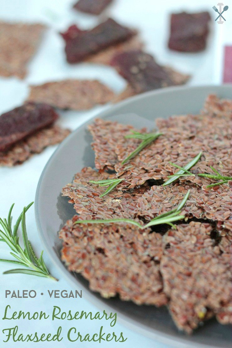 #savvysnacking #ad These homemade flaxseed crackers pair awesome with Lorissa's Kitchen Products!