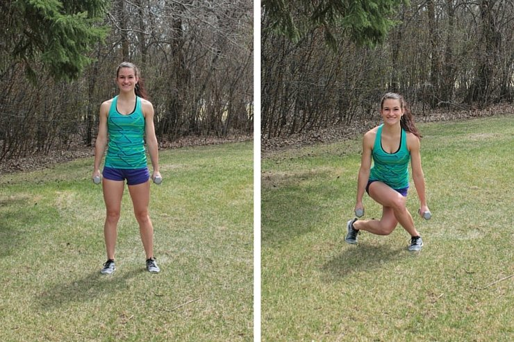 Summer Bikini Workout Series Part 3 - Lower Body. Curtsy squat