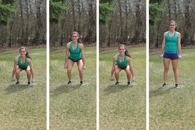 Summer Bikini Workout Series Part 3 - Lower Body. Two station static squats