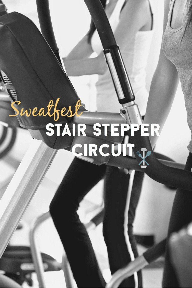This 20 minute stair stepper workout will leave you sweating! I great total body workout that burns calories like crazy.