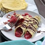 30 seconds is all you need to make these easy and tasty paleo crepes! With a delicious strawberry chia seed filling, your next easy paleo breakfast is HERE!