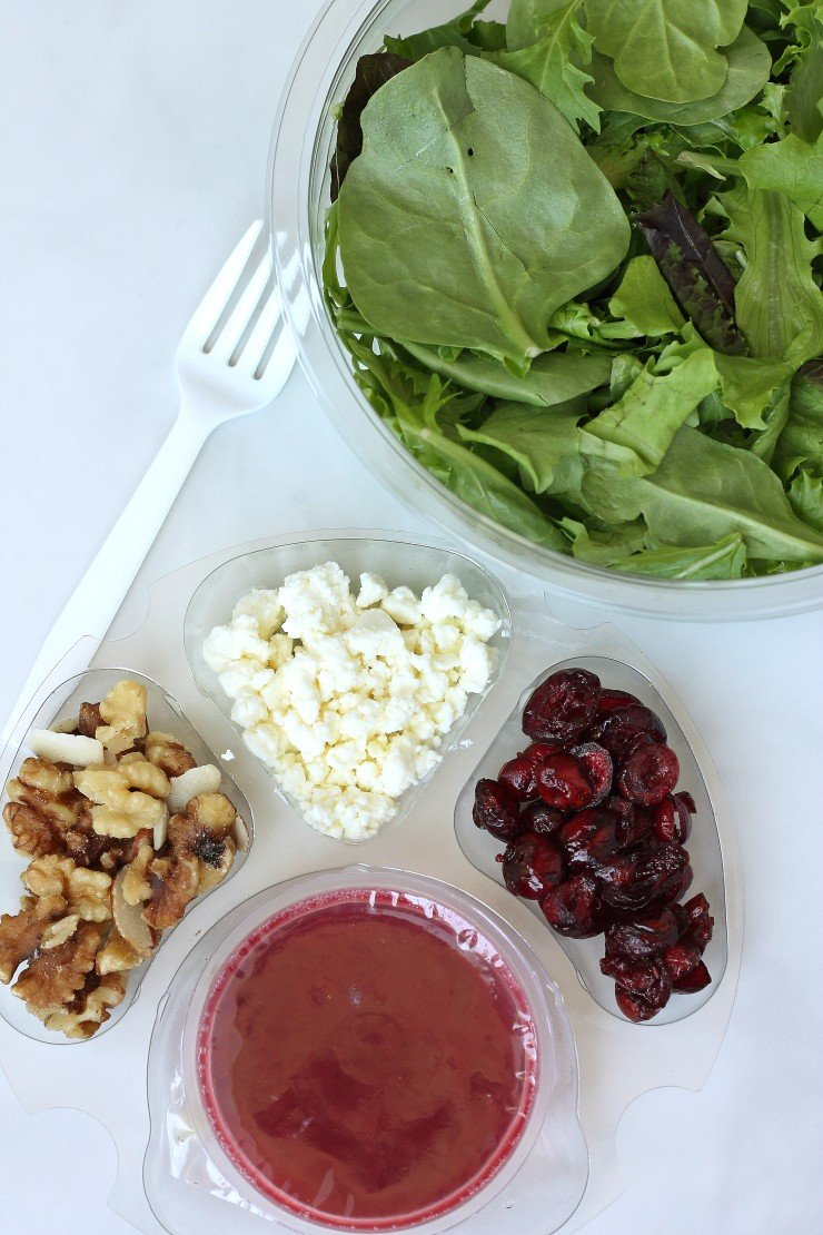 Portable, pre-packaged salads are a great way to eat healthy on the go!