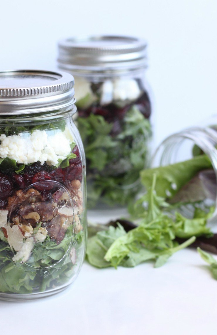 Mason jar salads are the perfect nutrient-dense snack when you're on the go. Using pre-packaged salad brands like eleVate can help you whip these up in a flash!