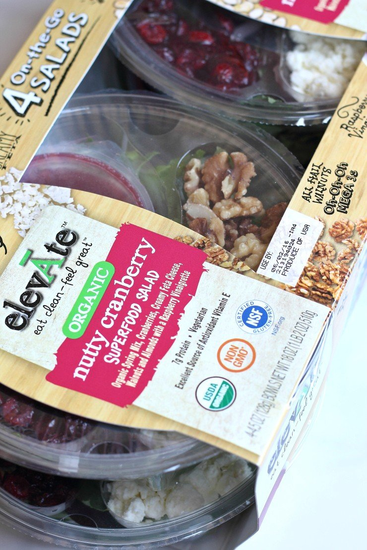 elevAte portable salads are perfect for a healthy lunch on the go. This nutty cranberry superfood salad is organic, non-GMO, and gluten free.